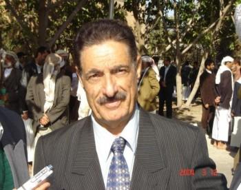 العميد محمد شايف جار الله عضو مجلس الشورى سعيد بقرب وصول الشيخ عبد الله