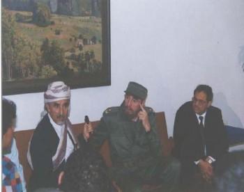 الشيخ عبد الله مع الرئيس الكوبي في هافانا 1998م .