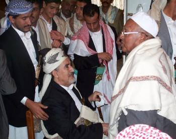 الشيخ عبد الله يستقبل جموع المهنئين بالعيد وبسلامة العودة