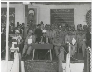 الشيخ عبد الله مع الرئيس الإرياني والأستاذ النعمان 1973م .