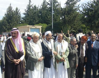 استقبال الشيخ عبد الله عند العودة من العلاج 26/10/2006م