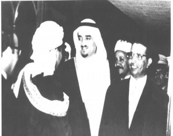 الملك فهد والشيخ عبد الله ويرى الفريق العمري وأحمد الشامي أوائل السبعينيات