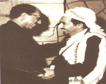 صورة نادرة للشيخ عبد الله مع الرئيس السادات سنة 19