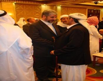 الشيخ صادق بن عبدالله الاحمر مع الاستاذ خالد مشعل فى مؤتمر القدس السادس بالدوحة 12-10-2008