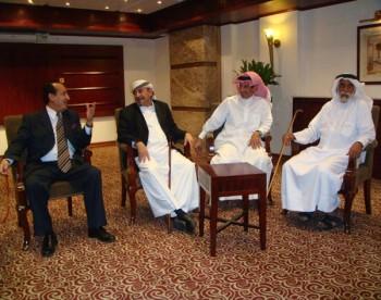 الشيخ صادق فى اجتماع مع السفير اليمني والشيخ المري بتاريخ11-10-2008